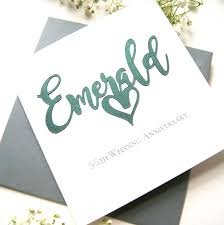 55th wedding anniversary emerald 55th wedding anniversary shop online hummingbird card