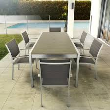 Plastic Patio Furniture Sets - 7 piece wood plastic patio set outdoor artika