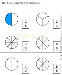 pictures on free printable fraction worksheets for grade 3
