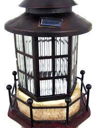 Red Solar Lights by Amazon Com Solar Lighthouse Tower Solar Light Green Ivory 39