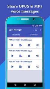 mp3 apk voice audio manager for whatsapp opus to mp3 apk