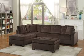 Reversible Sectional Sofas by Emilio Casual Chocolate Fabric Reversible Sectional Sofa Ottoman Set