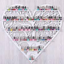 perfume nail polish display rack heart shaped wall nail shop