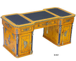 Kidney Shaped Writing Desk by A Supreme Napoleon Empire Style Ormolu Mounted Veneer Inlaid And