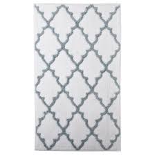 Grey Bathroom Rugs Home Ogie Gray Scalloped Diamonds Pattern Bath Rug