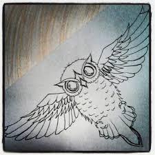 underboob owl tattoo designs for girls owl tattoo chest design