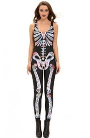 Skeleton Jumpsuit Halloween
