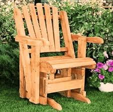 Gliding Adirondack Chairs White Cedar Adirondack Glider Chair