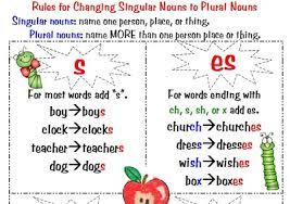 regular and irregular plural nouns anchor chart