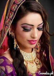 latest indian bridal eye makeup 2016 shimmery purple