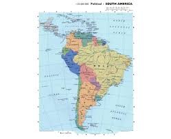 A Map Of South America Maps Of South America And South American Countries Political
