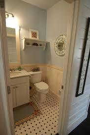 main floor powder room granite vanity top white washed pine