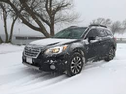 red subaru outback 2017 2016 subaru outback snow drive in wisconsin youtube