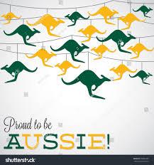 kangaroo ornament australia day card vector stock vector 358081205