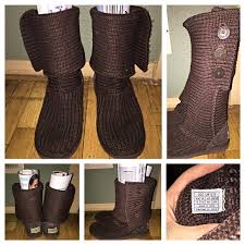 womens ugg knit boots 57 ugg boots brown knit uggs sz 9 from brielle s