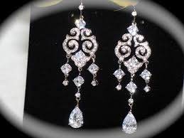 Bridal Chandelier Earrings Bella Vintage Cubic Zirconia Bridal Chandelier Earrings Amazing