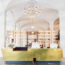 Hotel Lobby Reception Desk by Wanderlust Design The Quirk Hotel Coco Kelley Coco Kelley