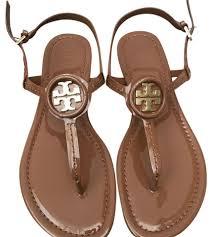 tory burch royal tan u0027 dillan u0027 soft patent leather sandals size