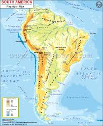 a map of south america south america physical map physical map of south america
