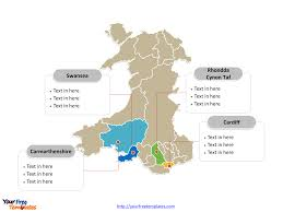 Map Of Wales Free Wales Editable Map Free Powerpoint Templates