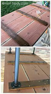 wood and pipe table diy plumbing pipe table tutorial