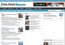 johny simple magazine blogger template 2014 free download