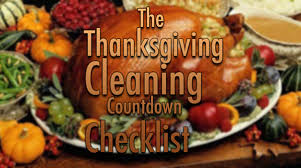 the thanksgiving cleaning countdown checklist prestige chem