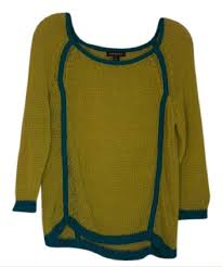 trouve sweater trouvé neon green and blue rn 58665 sweater pullover size 12 l