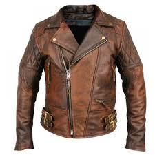 buy biker jacket buy biker motorcycle vintage distressed brown leather jacket