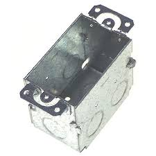raco 4 1 4 in h rectangle 1 gang switch box 1 2 in gray steel