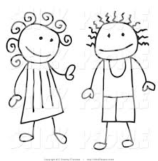 royalty free stock stick people designs of friends