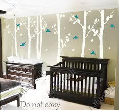 white birch tree decals nursery decals kids wall by naturewall