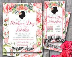 s day brunch invitations mothers day brunch etsy