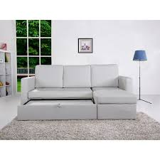 Sectional Sofa Bed With Storage by The Hom Saleen 2 Piece White Bi Cast Leather Storage Sectional