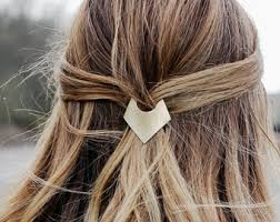 barrette hair gold hair barrette etsy