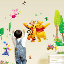 winnie the pooh bear wall sticker child role of children s diy winnie the pooh bear wall sticker child role of children s diy adhesive art mural poster picture removable wallpaper baby room children room wall stickers