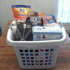 graduation gifts college graduation college bound gift basket for a square laundry