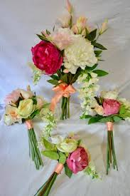 Silk Bridal Bouquet Pre Made Cheap And Discounted Silk Wedding Flower Packages Online
