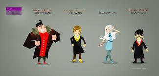 harry potter cartoon u0027s characters behance