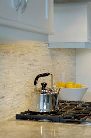 Split Face Stone Backsplash by Love The Backsplash And Counter Top Classy And Clean Look