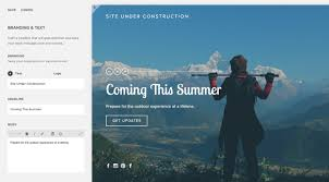 squarespace help creating an under construction page
