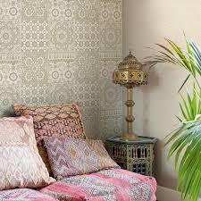 wandgestaltung gold marokkanische fliesen zementfliesen interirdesign ideen wohnung