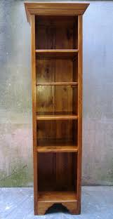 narrow tall bookcase tall pine bookcase 246343 sellingantiques co uk
