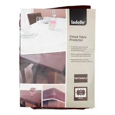 Dinner Table Protector by Ladelle Inhabit Rectangle Fitted Table Protector