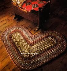 Kitchen Throw Rugs Braided Heart Rug Pattern Kitchen Floor Mat Braided Craft