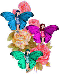 colorful roses and butterflies desiglitters com