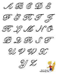 alphabet chart capital letters at yescoloring crafts