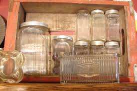 Antique Canisters Kitchen Glass Canister Set Antique Glass Flour Canisters Antique