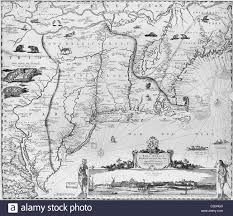 Map Of New England Colonies by 17th Century Map Of New England Stock Photo Royalty Free Image