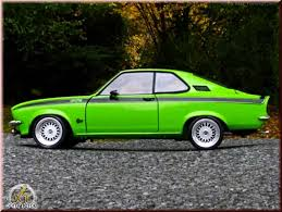 1975 opel manta opel manta gt e green 1975 wheels bbs big offset norev diecast